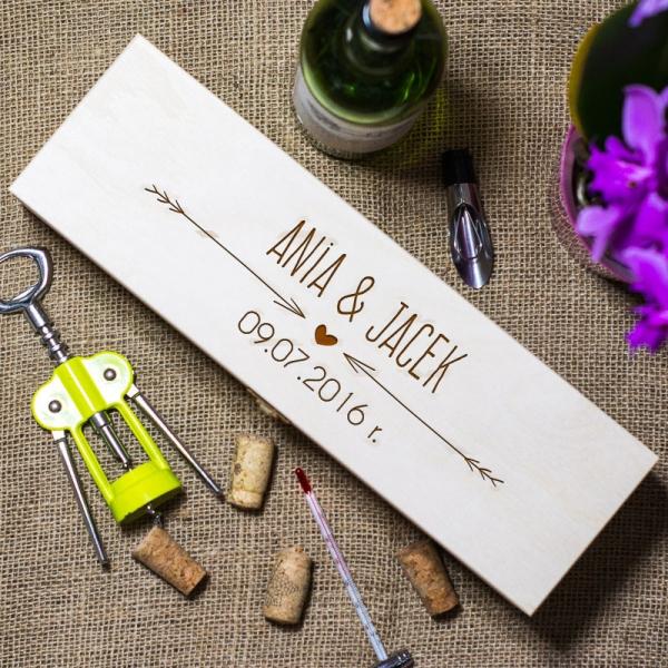 Bardzo dobra Grawerowane skrzynki na wino - piękny prezent dla Pary Młodej! JF58
