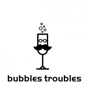 Bubbles Troubles Mobilny Bar Vintage